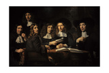 Nicolaes Maes (1634-1693). Dutch Golden Age Painter. Six Deans of the Amsterdam Guild of Surgeons Giclee Print by Nicolaes Maes