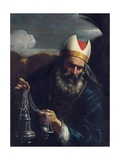 Aaron, High Priest of the Israelites, Holding a Censer Giclée-tryk af Pier Francesco Mola