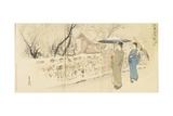 Garyo-Bai Plum in Kameido, December 1895 Giclee Print by Ogata Gekko