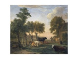 Landscape with Cattle, Painting by Paulus Potter (1625-1654), Netherlands, 17th Century Giclee Print by Paulus Potter