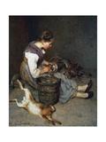 La Pourvoyeuse (Dreamer), 1892 Giclee Print by Philibert-Leon Couturier