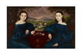 Ann and Eliza Dusenberry, 1838 Giclee Print by Orlando Hand Bears