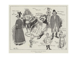 The Pantomime at Drury Lane Theatre Giclee Print by Phil May