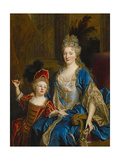 Portrait of Catherine Coustard, Marquise of Castelnau, with Her Son Leonor, C.1699 Giclee Print by Nicolas de Largilliere
