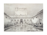 Pool and Fountain in the Courtyard of the Alberca Giclee Print by Philibert Joseph Girault de Prangey