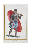 A Jagas Warrior, 1780 Giclee Print by Pierre Duflos