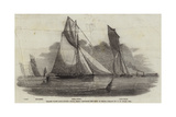 Thames Yacht Club Match, Prima Donna Rounding the Buoy at Erith Giclee Print by Nicholas Matthews Condy