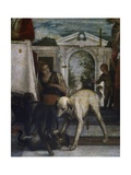 Dog and Cat, Detail from Feast at House of Simon Pharisee, 1570 Giclee Print by Paolo Veronese