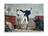 Preparing a Wig Giclee Print by Philibert Louis Debucourt