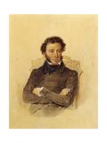Portrait of the Poet Aleksandr Sergeevich Pushkin Giclee Print by Pyotr Fyodorovich Sokolov