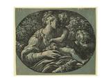 The Virgin Gicléetryck av Parmigianino,