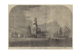 The Baltic Fleet Running for Dover Straits Giclee Print by Oswald Walters Brierly