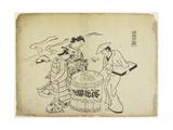 Three Sake Tasters. 1710 Giclee Print by Okumura Masanobu