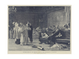 Columbus Refuting the Dominican Friars in the Conferences at Salamanca Giclee Print by Nicolo Barabino