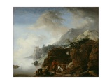 Travelers Awaiting a Ferry, 1649 Giclee Print by Philips Wouwermans