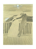 Jeanne Hugo and Jean Charcot at Hauteville House, Guernsey Giclee Print by Paul Cesar Helleu