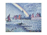 Entrance to the Port of Honfleur, 1899 Gicléetryck av Paul Signac
