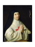 Portrait of Catherine-Agnes Arnauld, 1662 Giclee Print by Philippe De Champaigne