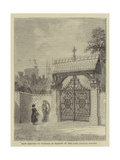 Gate Erected at Windsor in Memory of the Late Charles Knight Giclee Print by Percy William Justyne