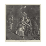 Mrs Cibber as Cordelia in Nahum Tate's Added Scene of King Lear Giclee Print by Pieter van Bleeck