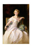 The White Dress - a Portrait of Joan Clarkson, 1935 Giclee Print by Philip Alexius De Laszlo