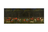 The Hunt in the Forest, C.1465-70 Gicléetryck av Paolo Uccello