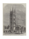 Inauguration of the New Tower of St Mary Magdalene's Church, Taunton Giclee Print by R. Dudley