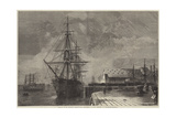 Removal of Mr Peabody's Remains from the Railway to HMS Monarch at Portsmouth Giclee Print by R. Dudley