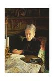 Portrait of Elena Osipovna Likhacheva (1836-1904) Writer and Social Activist, 1892 Giclee Print by Nikolai Nikolaevich Ge
