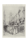 The Visit of the German Emperor to Palestine Giclee Print by Melton Prior