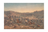Charge of the 17th - Duke of Cambridge's Own - Lancers at Ulundi, 4th July 1879, 1879 Giclee Print by Orlando Norie