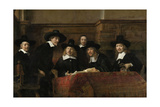The Wardens of the Amsterdam Drapers' Guild, known as 'The Syndics', 1662 Giclee Print by  Rembrandt van Rijn