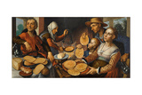 The Pancake Bakery, 1560 Giclee Print by Pieter Aertsen