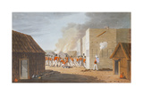 The Storming of a Large Storehouse Near Rus Ul Khyma Where Capt. Dancey of Hm 65th Regt. Was Killed Giclee Print by R. Temple