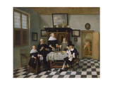 Family Group at Dinner Table, C.1658-60 Giclee Print by Quiringh Gerritsz. van Brekelenkam