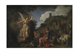 The Angel Raphael Takes Leave of Old Tobit and His Son Tobias, 1618 Giclee Print by Pieter Lastman
