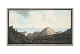 View of the Present State of the Little Mountain Raised by the Explosion in the Year 1760 Giclee Print by Pietro Fabris