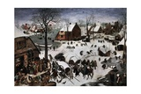 The Census at Bethlehem, 1566 Giclee Print by Pieter Bruegel I