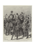 Return of Prince Alexander to Bulgaria, the Prince Carried in Triumph by His Officers at Rustchuk Giclee Print by Richard Caton Woodville II