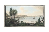 View of Naples Taken from Pausilipo Giclee Print by Pietro Fabris