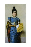 Yellow Fan, 1889 Giclee Print by Pompeo Massani