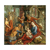 The Adoration of the Magi, Central Panel, C.1560 Giclee Print by Pieter Aertsen
