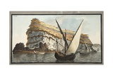 View from the Sea of the Promontory Giclee Print by Pietro Fabris