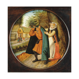 Flemish Proverb: 'A Wife Hiding Her Infidelity from Her Husband under a Blue Cloak' Giclee Print by Pieter Brueghel the Younger