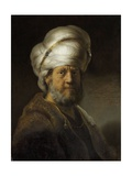 Man in Oriental Dress, 1635 Giclee Print by  Rembrandt van Rijn