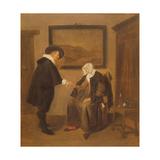 The Consultation, C.1655 Giclée-Druck von Quiringh Gerritsz. van Brekelenkam