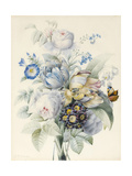 A Bunch of Flowers Including Roses Giclee Print by Pierre Joseph Redoute