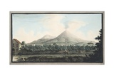 View of Mount Veusvius Form the Sea Shore Giclee Print by Pietro Fabris