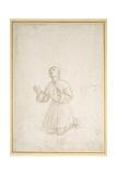 Kneeling Figure of a Youth, C.1503 Reproduction procédé giclée par  Raphael