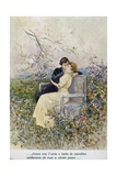 Two Lovers by Pietro Scoppetta (1863-1920), Italy, 20th Century Giclee Print by Pietro Scoppetta